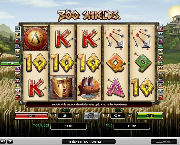300 Shields Slot Game Virgin Casino