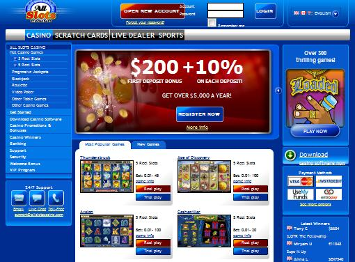 Instant-Play All Slots Casino Platfrom