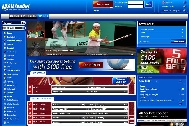 allyoubet.com screenshot