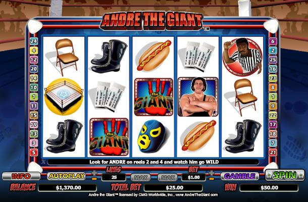 Andre the Giant Slot Virgin
