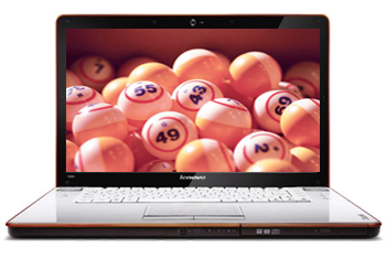 Bingo on laptop screen