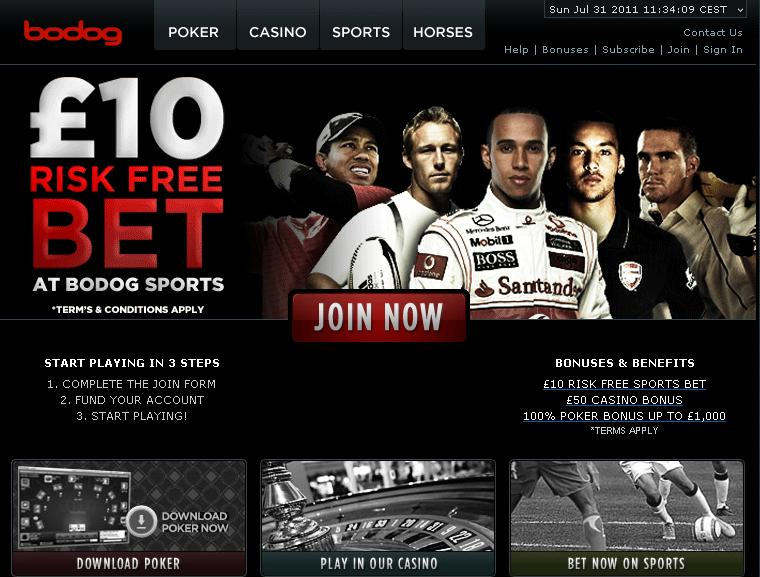 Bodog Bookmaker Gambling License