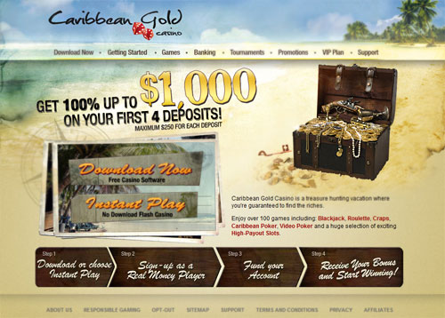 Carribean Gold Casino Screenshot