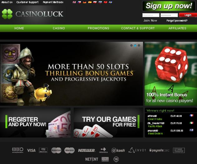 Casinoluck.com screenshot