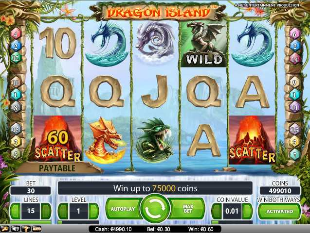 Mr. Green new Dragon Island slot game