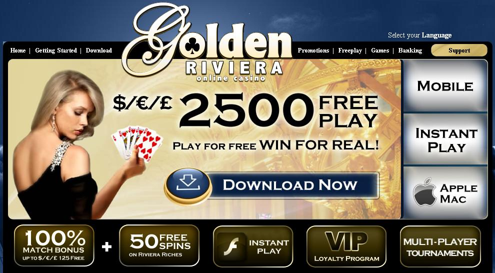 Love Your Casino Promotion Golden Riviera Casino