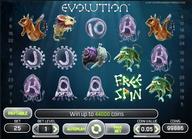 Evolution Slot Game Net Entertainment