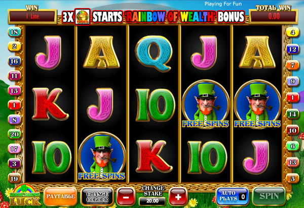 Leprechaun's Luck slot jackpot