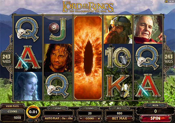 Big Jackpot on Lord of the Rings at Platinum Play Casino