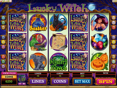 Lucky Witch New Microgaming Slot Game