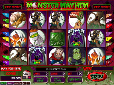 Monster Mayhem New Realtime Gaming Slot