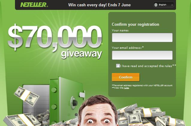 Neteller Giveaway Promotion image