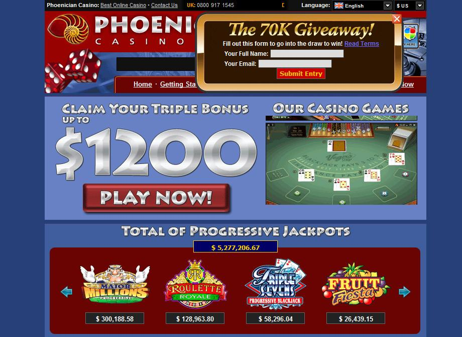 Phoenician Casino - €1200 welcome bonus