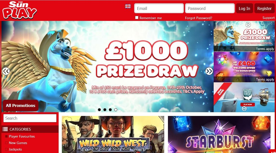 Sun Play Casino Free Spins Promotion