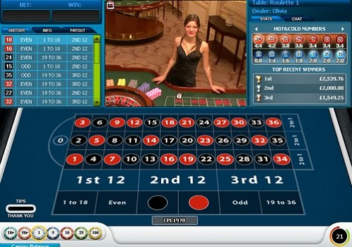William Hill Live Roulette Promotion