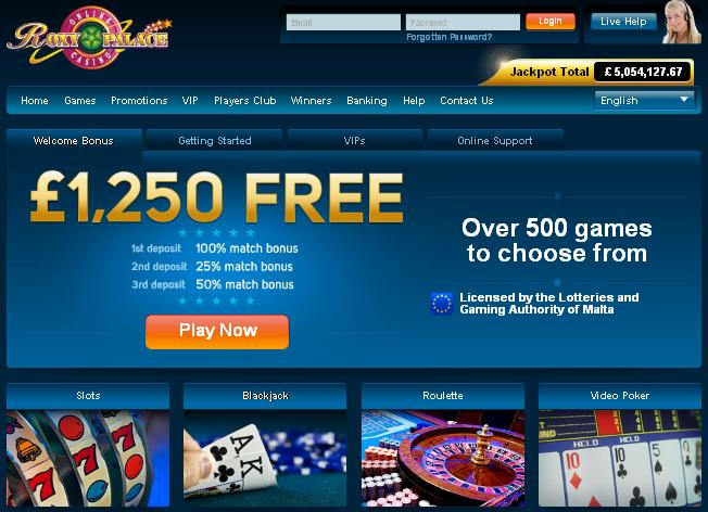 Roxy Palace Casino Promotion