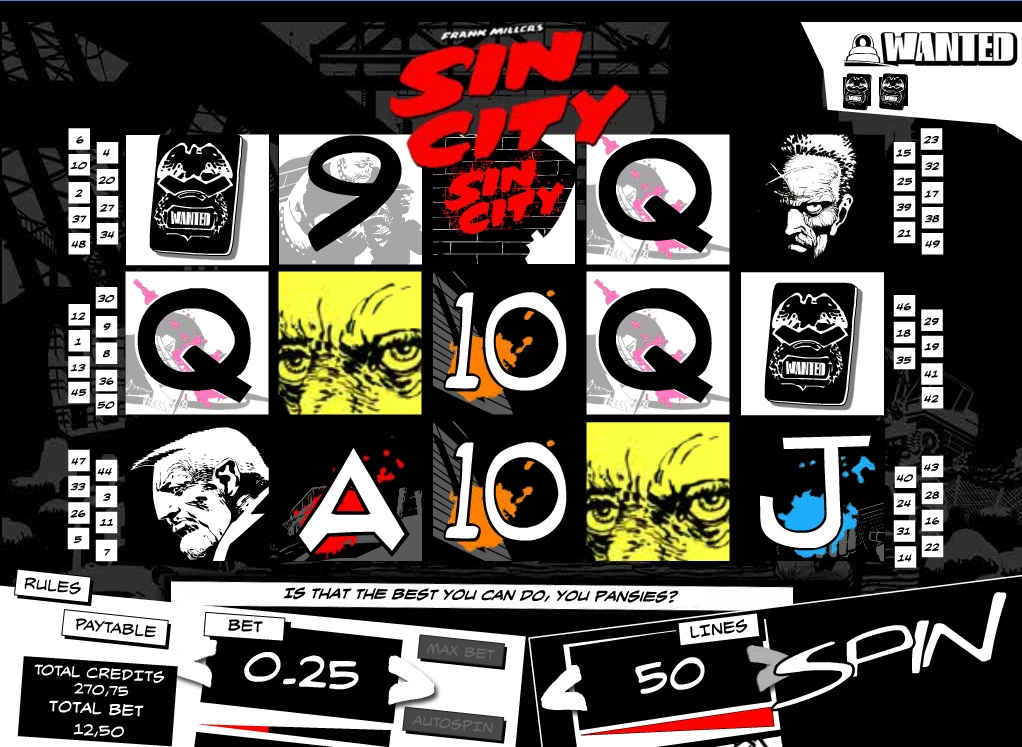 Sin City Slot Game