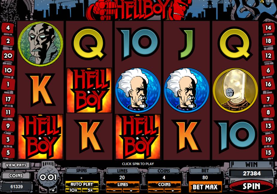 Hellboy 5-reel online slot game