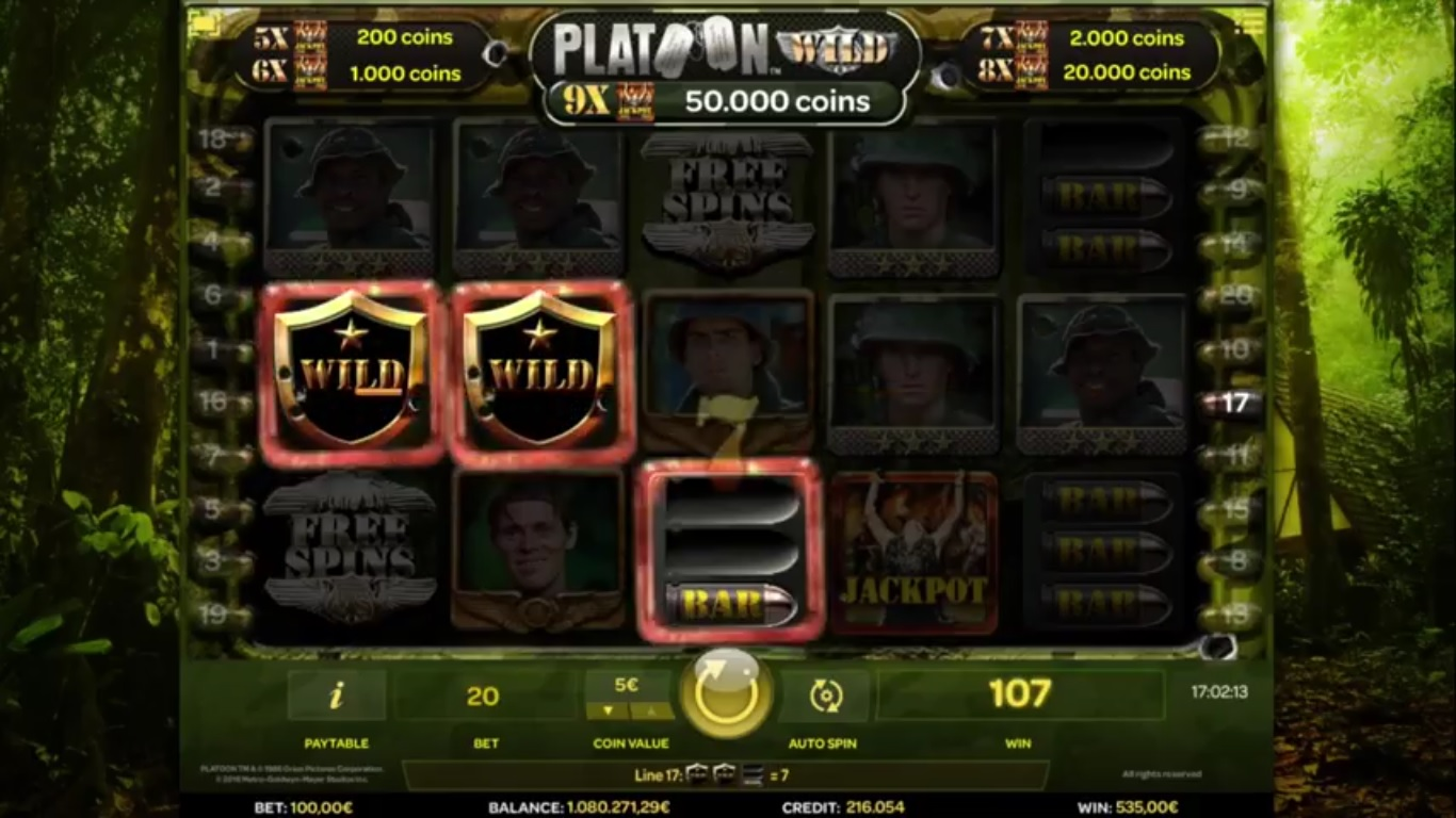 Platoon Wild Slot Screenshot