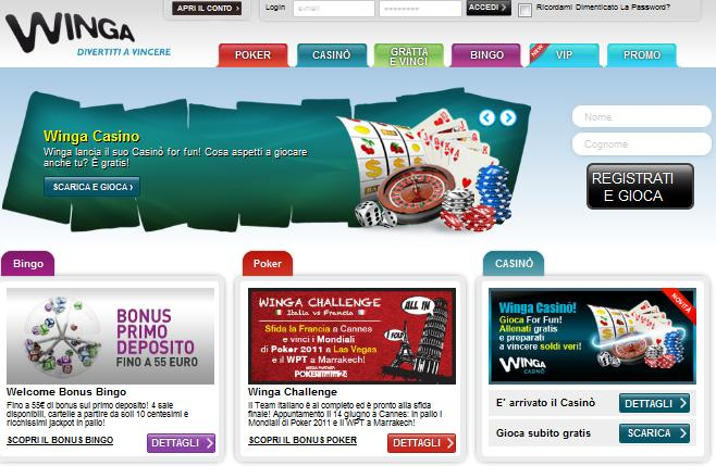 Winga.it games website screenshot