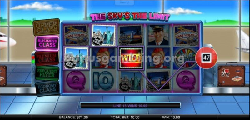 The Sky's the Limit Slot - Play this Video Slot Online