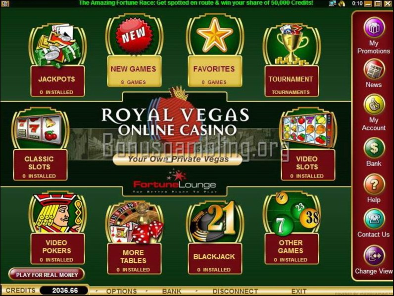 Royal Vegas Casino Bonus Code