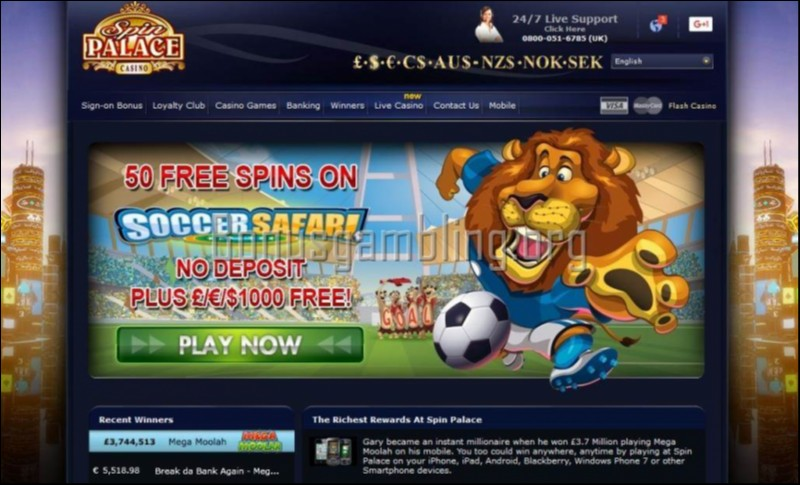 Spin palace casino hd