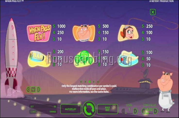 casino bet online when pigs fly