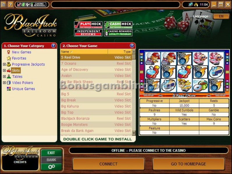 Casino games - blackjack ballroom